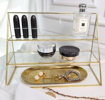 Unisex Make-up Organizer Jewelry Organizer Gold Furniture