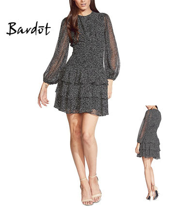 Casual Style Long Sleeves Party Style Lace Elegant Style