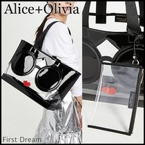Alice+Olivia Casual Style A4 Party Style Crystal Clear Bags PVC Clothing