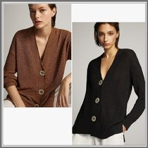 Massimo Dutti Casual Style Long Sleeves Plain Office Style Cardigans