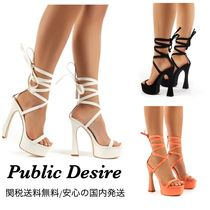 PUBLIC DESIRE Platform Lace-up Casual Style Plain Party Style