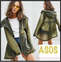 ASOS Casual Style Raincoat Sheer Outerwear