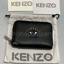 KENZO Unisex Street Style Logo Coin Cases