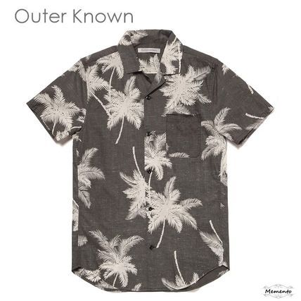 Tropical Patterns Unisex Cotton Short Sleeves Surf Style