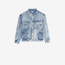 BALENCIAGA Denim Medium Denim Jackets Logo Jackets