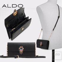 ALDO Casual Style Faux Fur Blended Fabrics Studded 2WAY Chain