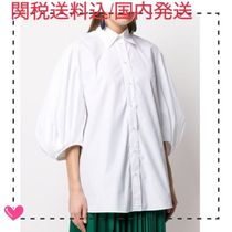 VALENTINO Plain Cotton Oversized Shirts & Blouses