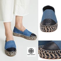 Tory Burch Platform Casual Style Bi-color Leather Elegant Style