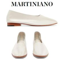 MARTINIANO Street Style Plain Leather Ballet Shoes