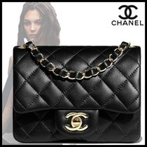 CHANEL Casual Style Lambskin 2WAY Chain Plain Party Style