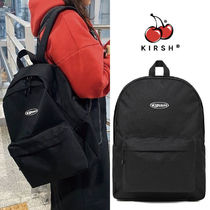 KIRSH Unisex Street Style A4 Plain Logo Backpacks