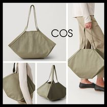 COS Casual Style Unisex Plain Leather Totes