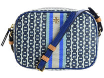 Tory Burch GEMINI LINK Stripes Other Plaid Patterns Monogram Casual Style Leather