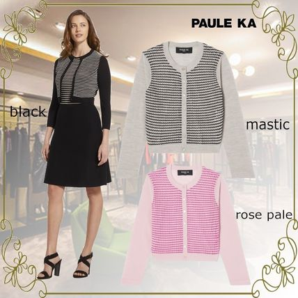 Short Stripes Casual Style Long Sleeves Office Style