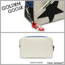 Golden Goose Star Casual Style Leather Crossbody Logo Shoulder Bags