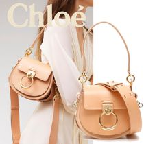 Chloe TESS Casual Style Calfskin Suede 3WAY Plain Leather Party Style