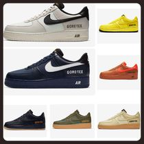 Nike AIR FORCE 1 Street Style Khaki Dad Sneakers Logo Loafers & Slip-ons