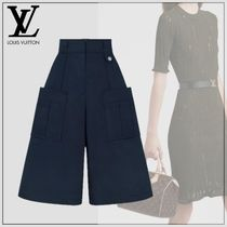 Louis Vuitton Casual Style Plain Cotton Medium Long Culottes