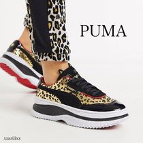 PUMA Leopard Patterns Platform Casual Style Street Style Leather