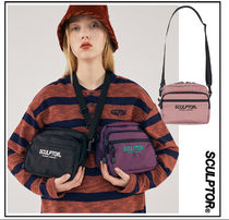 SCULPTOR Casual Style Unisex Plain Crossbody Logo Shoulder Bags