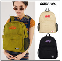SCULPTOR Casual Style Plain Logo Backpacks