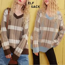ELF SACK Other Plaid Patterns Casual Style Street Style Medium