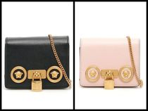 VERSACE 2WAY Leather Elegant Style Crossbody Logo Shoulder Bags