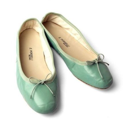 Suede Leather Handmade Icy Color Ballet Shoes
