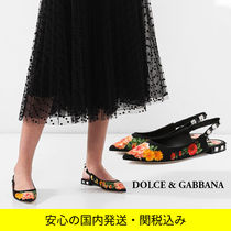 Dolce & Gabbana Flower Patterns Platform Casual Style Leather Party Style
