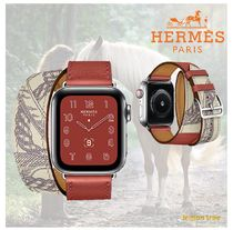 HERMES Casual Style Leather Square Office Style Elegant Style