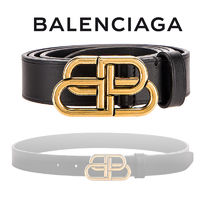 BALENCIAGA Casual Style Plain Leather Belts