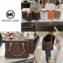 Michael Kors Monogram Casual Style 2WAY Chain Plain Leather Party Style