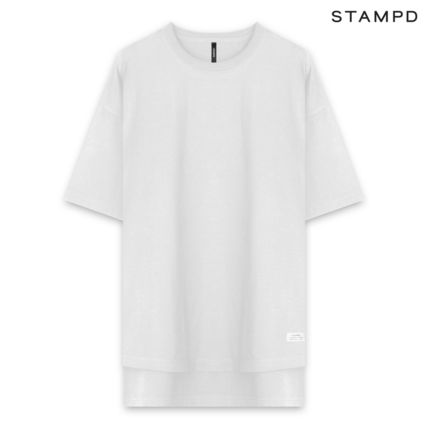 Crew Neck Unisex Street Style Plain Short Sleeves Logo