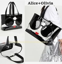 Alice+Olivia A4 Crystal Clear Bags PVC Clothing Totes