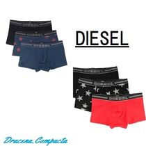 DIESEL Star Street Style Plain Cotton Logo Trunks & Boxers