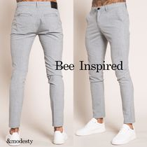Bee Inspired Clothing Printed Pants Other Plaid Patterns Street Style Bi-color