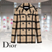Christian Dior Other Plaid Patterns Wool Medium Peacoats