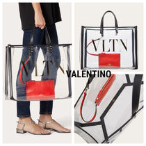 VALENTINO Casual Style Formal Style  Logo Totes