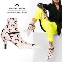 MARINE SERRE Dots Leather Pin Heels Elegant Style Ankle & Booties Boots