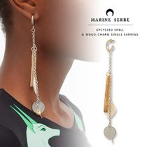 MARINE SERRE Casual Style Party Style Silver Elegant Style Earrings