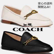 Coach Plain Leather Pointed Toe Shoes