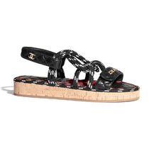 CHANEL Rubber Sole Casual Style Blended Fabrics Leather