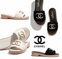 CHANEL Casual Style Tweed Office Style Elegant Style Mules