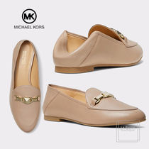 Michael Kors Round Toe Blended Fabrics Chain Plain Leather Party Style