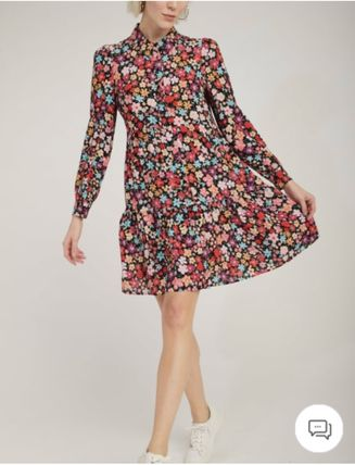 Short Flower Patterns Casual Style A-line Flared