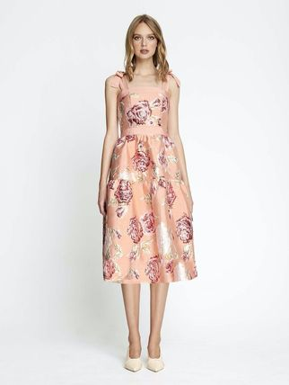 Flower Patterns Long Dresses