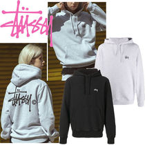 STUSSY Sweat Street Style Long Sleeves Plain Medium Logo