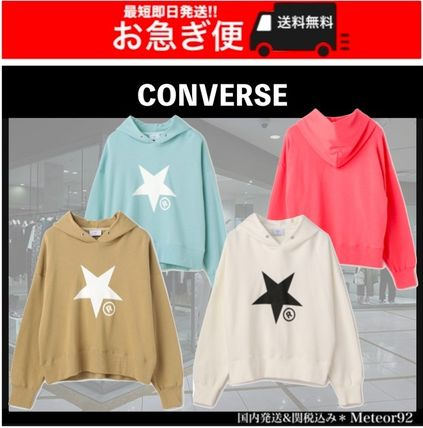 Long Sleeves Plain Logo Hoodies & Sweatshirts