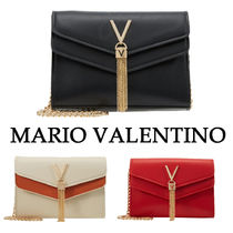 Mario Valentino Casual Style Faux Fur Chain Plain Party Style Elegant Style