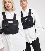 collusion Casual Style Unisex Street Style Plain Logo Backpacks